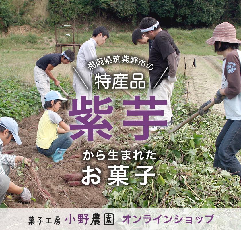 福岡県筑紫野市の特産品「紫芋」から生まれたお菓子